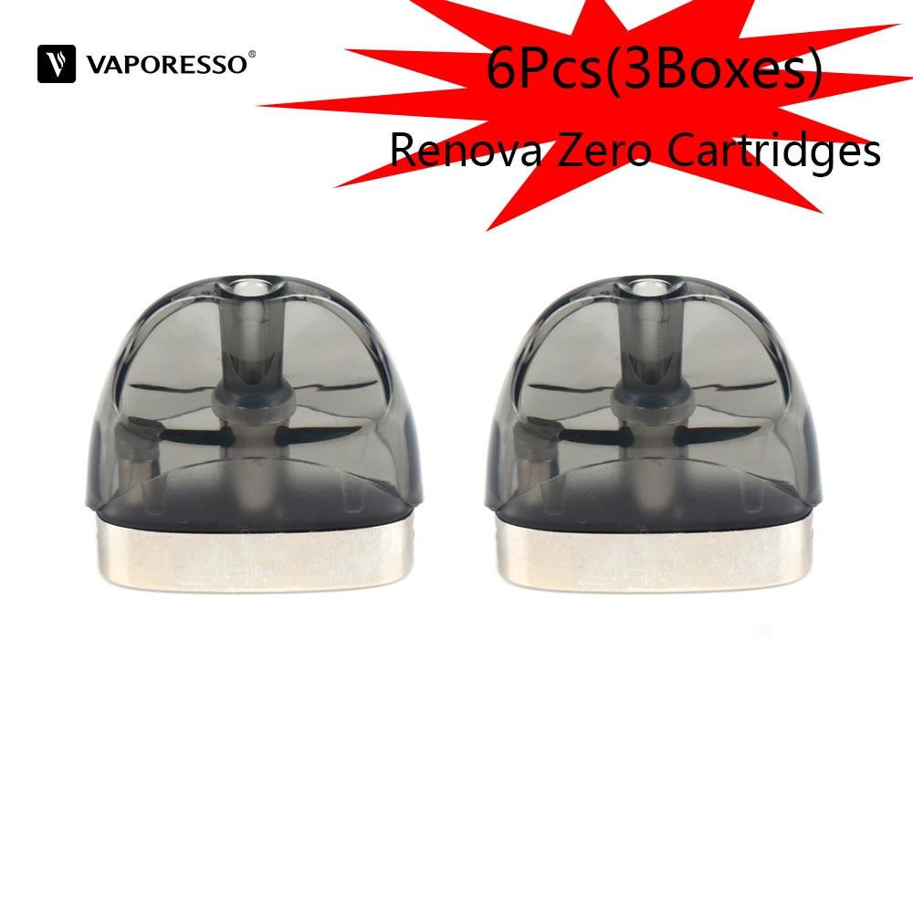 Original 6pcs Vaporesso Renova Zero Pod Cartridge Electronic Cigarette Atomizer 2ml Vape Tank With 1.0ohm Coil Core E Cig
