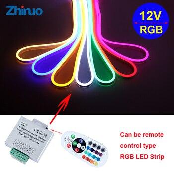 Flexible de luz de neón RGB tira de LED de DC12V 1M-5M-10M 15 M 20 m iluminación SMD5050 impermeable casa Decoración LED DIY de las luces