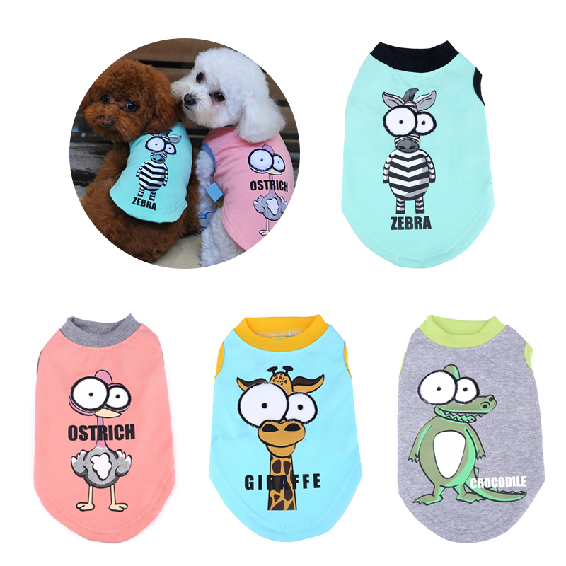 Clothes For Small Dogs Cartoon Big Eyes Pet Cat Dog Costumes Cotton Summer Dog Shirts T-shirt Chihuahua Yorkshire Vest Clothing Собака