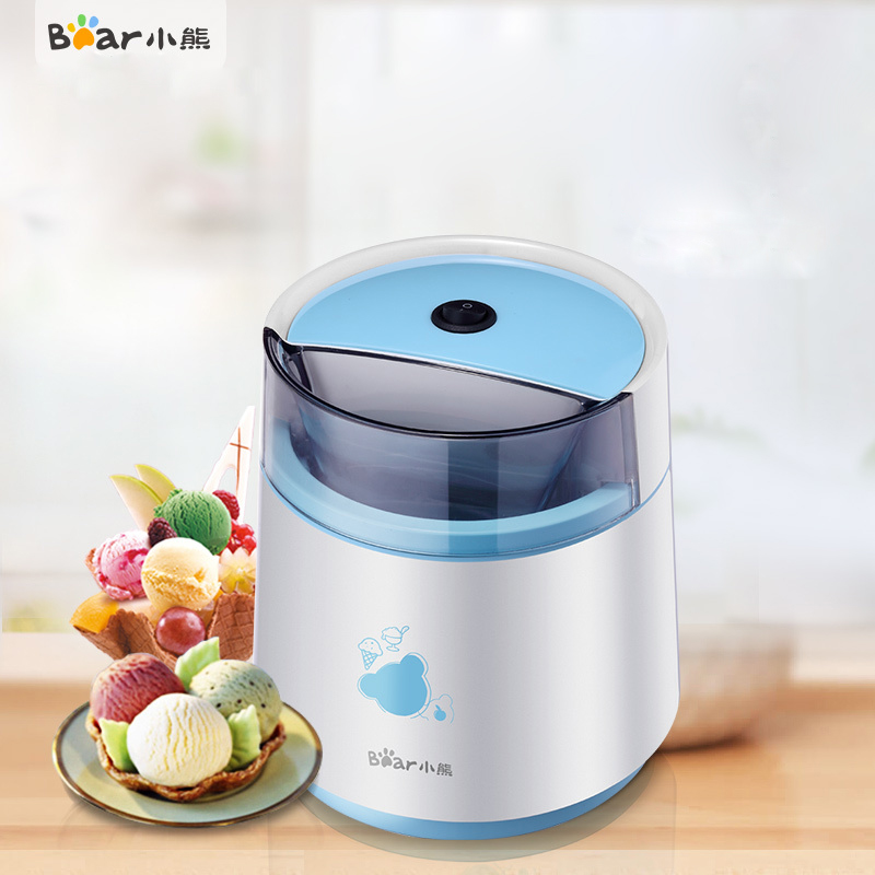 Bear BQL-A08A1 Ice Cream Machine DIY Homemade Ice Cream Machine Home Fully Automatic Ice Cream Machine Double Insulation bl 1000 automatic diy ice cream machine home children diy ice cream maker automatic fruit cone soft ice cream machine 220v 21w