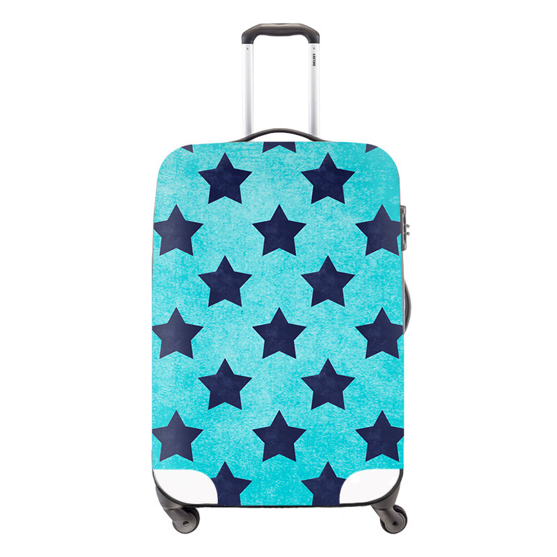 3 Fashion travel luggage cover travel bag cover geometric pictures Waterproof Protect Covers for Suitcase girl\'s
