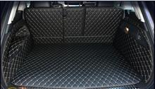Best quality & Free shipping! Full set trunk mats for Volkswagen Touareg 2017-2011 durable cargo liner carpets for Touareg 2016