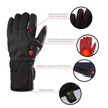 цена на SAVIOR Electric battery Heated Gloves Temperature Smart Control 7.4V 2200MAH Warm Gloves Winter outdoor sports ski bicycle gift