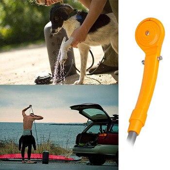 2018 promoción lavadora aparcamiento 12 V Camping senderismo viaje coche ducha para mascotas Spa Kit de lavado al aire libre herramientas útiles