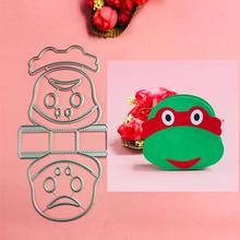 Lovely turtler box basket Metal Cut Dies Christmas Stencils For DIY Scrapbook Paper Card Decorative Craft Embossing Die Cuts