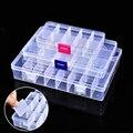 Съемная прозрачная пластиковая коробка для ювелирных изделий  маленькая портативная коробка для таблеток  многоклассная коробка для сорти...