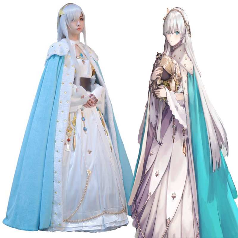 Game Fate Grand Order Cosplay Costumes Caster Anastasia Nikolaevna Romanova Cosplay Dress Costume Halloween Party Women