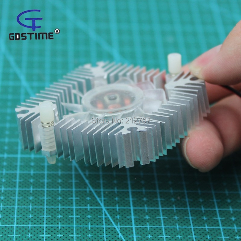 10pcs set Gdstime 55mm Silver Snowflake Computer Graphics Card VGA Video Card Cooling Fan 12 volt in Fans Cooling from Computer Office