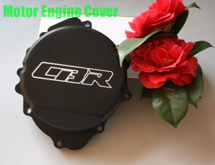 Free shipping motorcycle parts Billet  Engine Stator cover  for Honda  CBR600RR F5 2007-2012 07-12 BLACK left aftermarket free shipping motorcycle parts billet engine stator cover for honda cbr600rr f5 2007 2012 chrome left