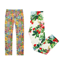 2017 New Spring Fashion cotton floral leggings flower printed girls leggings for 3-12 years old