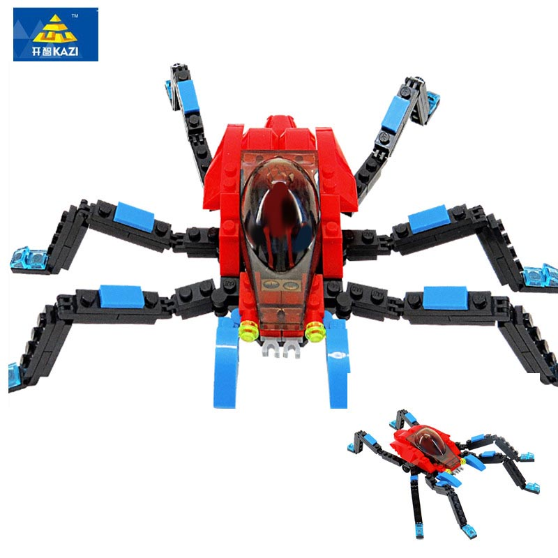 KAZI 6001 6002 6003 Blocks Compatible City Building Blocks Spiderman DIY Bricks Figure Christmas Gift Toys For children in Blocks from Toys Hobbies