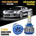60w/Pair COB Chip Beam HB4 9006 LED Headlight Bulb 6000lm 12V 6000k Auto LED Front Head Lamp Fog Light 24V