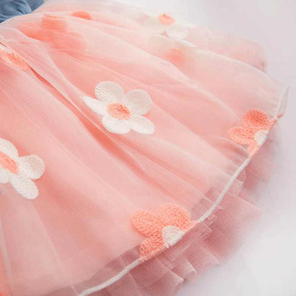 Bé gái Áo Mùa Hè 2019 Trẻ Em Mặc Áo Vải Denim Top Không Tay Công Chúa Tutu Mini 5 màu