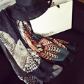 88*192 см, 2016 новый стиль женщин шарф Шаблон Сова геометрические головоломки узором шарф шали и шарфы марка шарф skyour