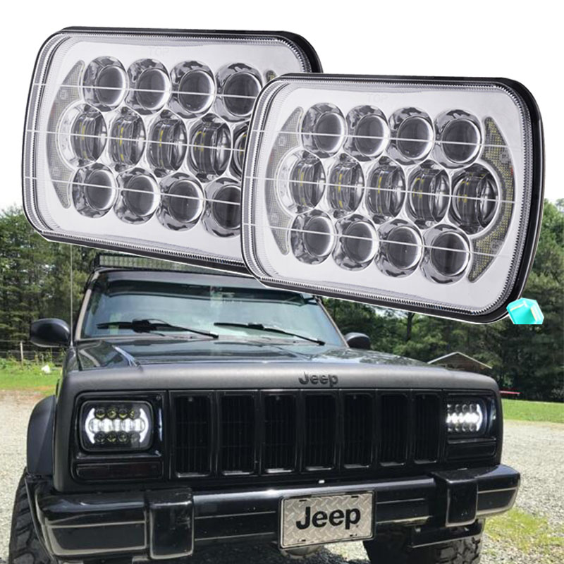 цены 2017 Top Sell 5x7 inch 7'' Square headlight 105W Hi/Lo Beam for 1986-1995 Jeep Wrangler YJ and 1984-2001 Jeep Cherokee XJ