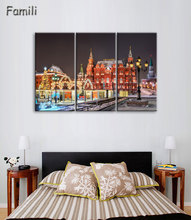 Wall Art Modular Pictures Moscow Russia Kremlin City Modern Oil Painting On The Wall Pictures For Living Room Hot Cuadros 3Piece around the kremlin the moscow kremlin its monuments and works of art