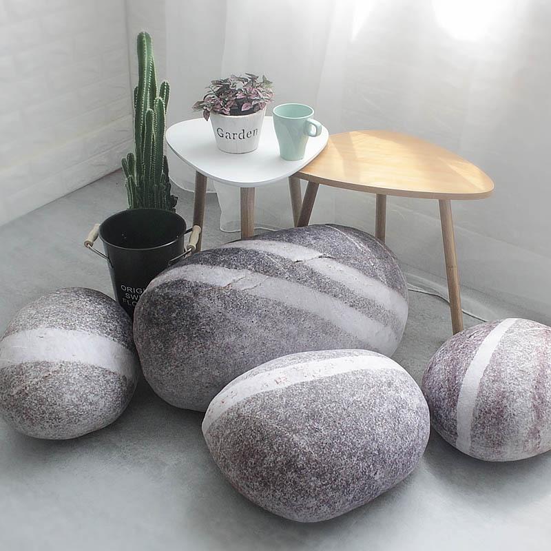 2018 новая однотонная креативная 3D имитация каменной подушки галька Хлопок Белый Большой подушка ленивый креативный домашний декор забавная мягкая подушка
