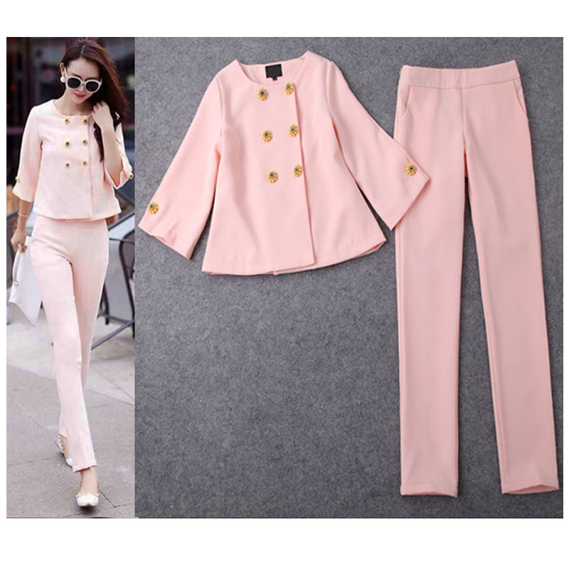 Elegant Trouser Suits for Ladies New 2016 Spring Summer Fashion ...