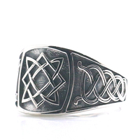Size 6 to Size 14 Unisex 925 Silver Cool Vikings Slavic star of all Amulet Ring