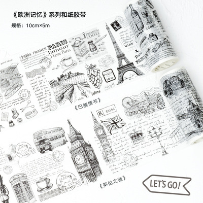 100mm*5m  High Quality  Washi Paper  Tape/Vintage Paris Love-letter And Engliand  Conundrum Newspaper Masking  Japan  Washi Tape