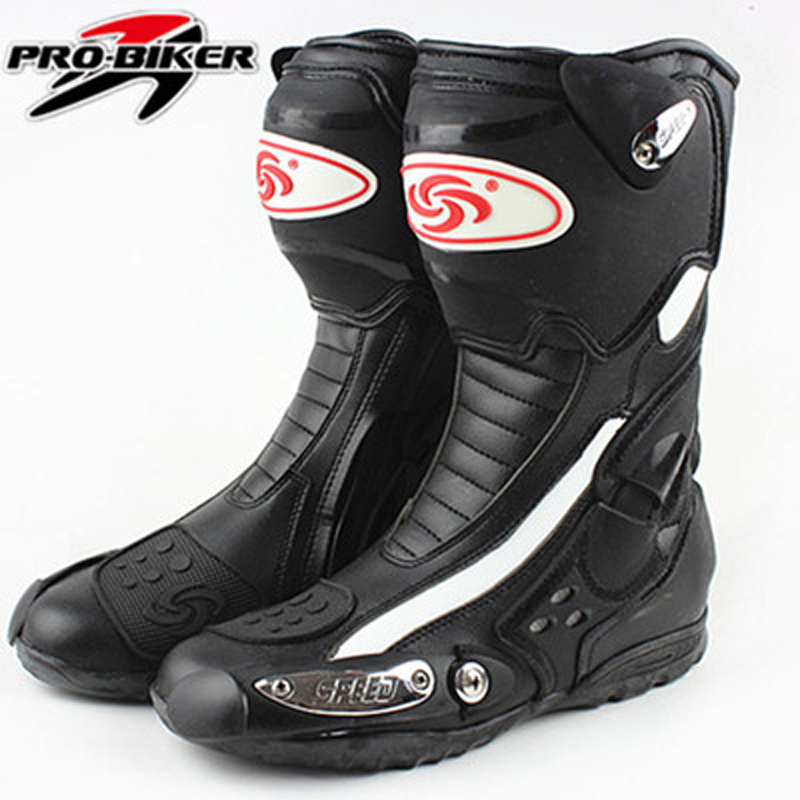 2018 Probiker brands Mens Motorcycle Boots Racing Speed Motorbike shoes bota motocross Boot Men dirt bike Cycling motorboats ...
