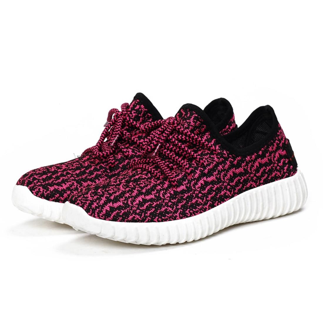 Sapatos mujeres moda sport zapatos de malla fresco resbalón en los zapatos plano