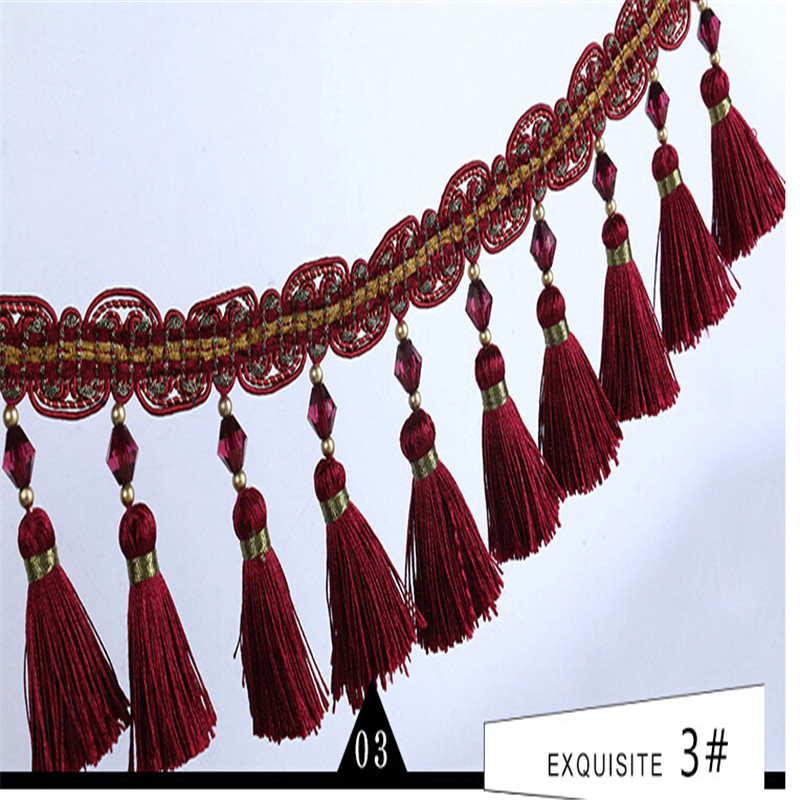 Curtain Lace Factory Direct Selling Polyester Silk Lace Curtain Accessories Wholesale Spot