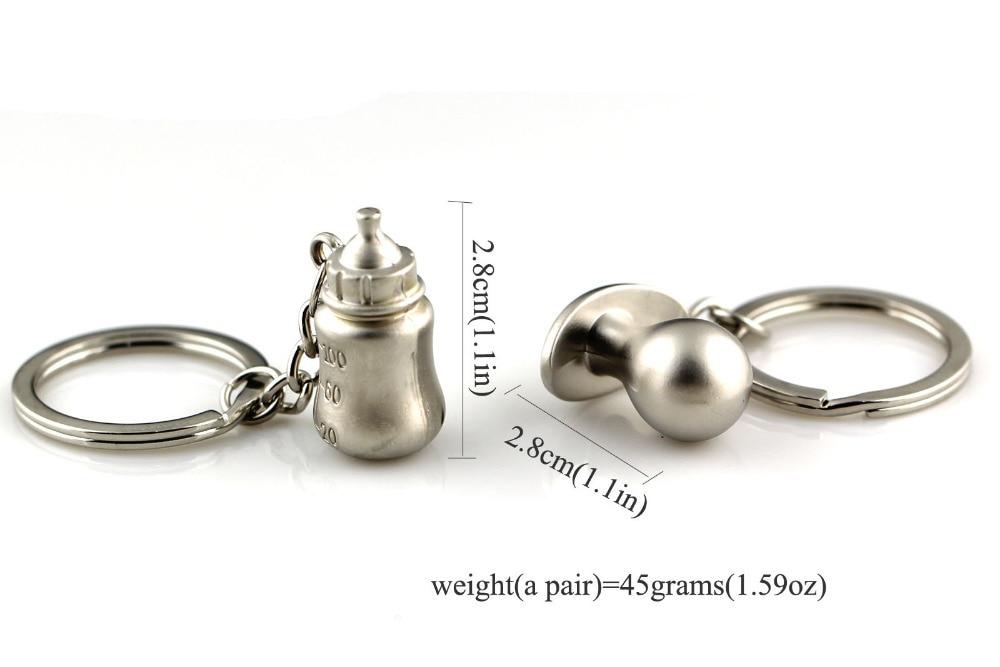 Креативные забавные матовые серебряные соски для бутылок парный брелок для ключей цепной брелок 83168