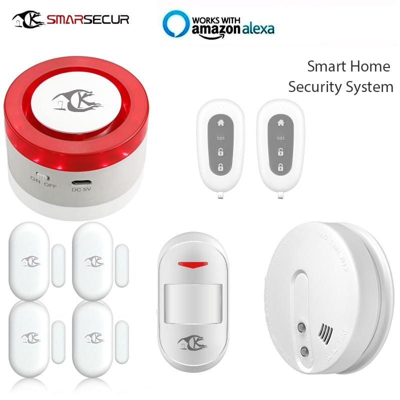 Wifi Alarm Mini Siren Smart Life APP Control compatible  with Alexa Wifi Alarm Mini Siren Smart Life APP Control compatible  with Alexa
