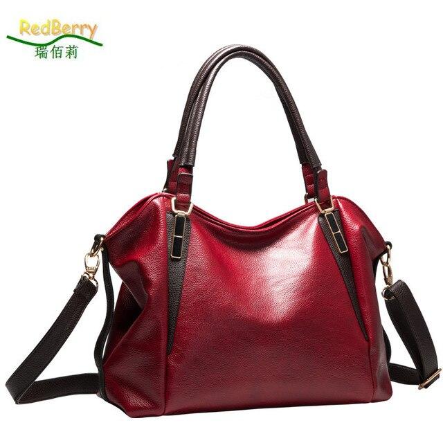 Hot Genuine Leather Women Bag Bolsas 2017 Design Handbag Shoulder Bags Vintage Female Luxury Messenger Crossbody Casual Tote