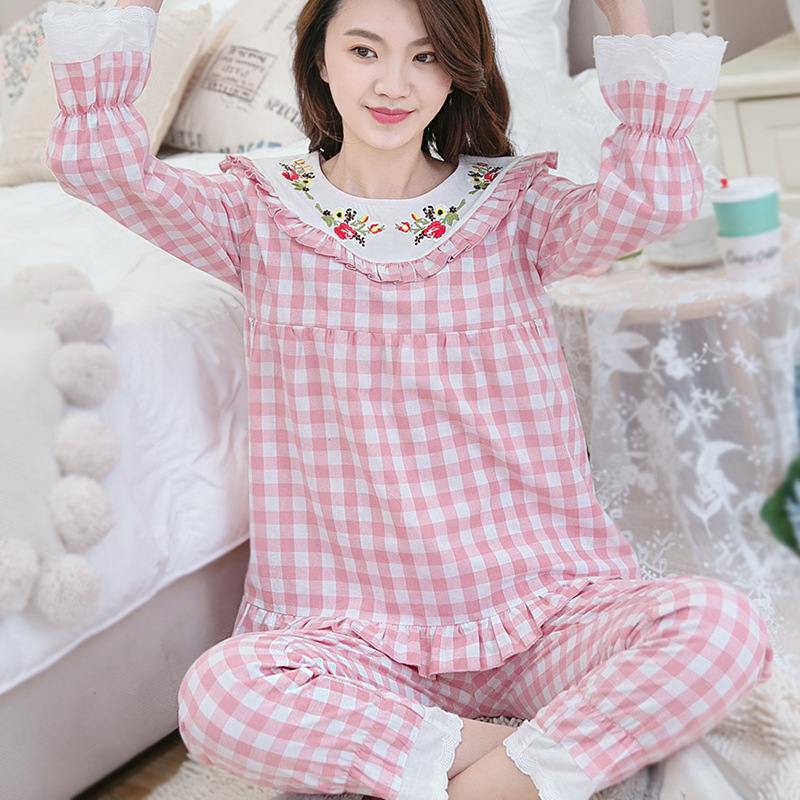 2018 Maternity Nursing Pajamas Set Spring and Summer Breastfeeding clothes Maternity for Pregnant Women Sleepwear Clothes breastfeeding nursing cover lactating towel breastfeeding cloth used jacket scarf generous soft good quality maternity clothes