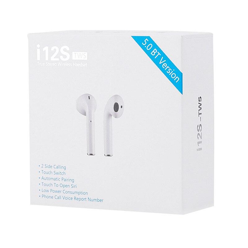 I12s TWS Pro Plus Bluetooth 5.0 Fone De Ouvido Fones de Ouvido Fones de Ouvido Sem Fio Com Sensor de Toque PK I20 I30 I60 Para Todos Inteligente telefone móvel