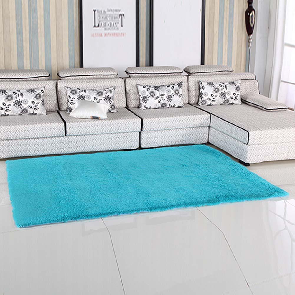 Uberlegen Flauschigen Teppiche Anti Skiding Shaggy Bereich Teppich Esszimmer Teppich  Fußmatten Blau Zottige Teppiche Shag Teppiche APJ