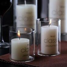 Nordic Decoration Home Candlestick Christmas Candle Holder Glass Center Table Fener Mumluk 40KO294