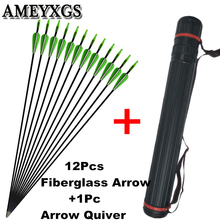 цена на 12Pcs 31 SP 900 Archery Fiberglass Arrows OD 6mm Glass Fiber Fixed Arrow Tips Arrow Tube Outdoor Shooting Hunting Accessories