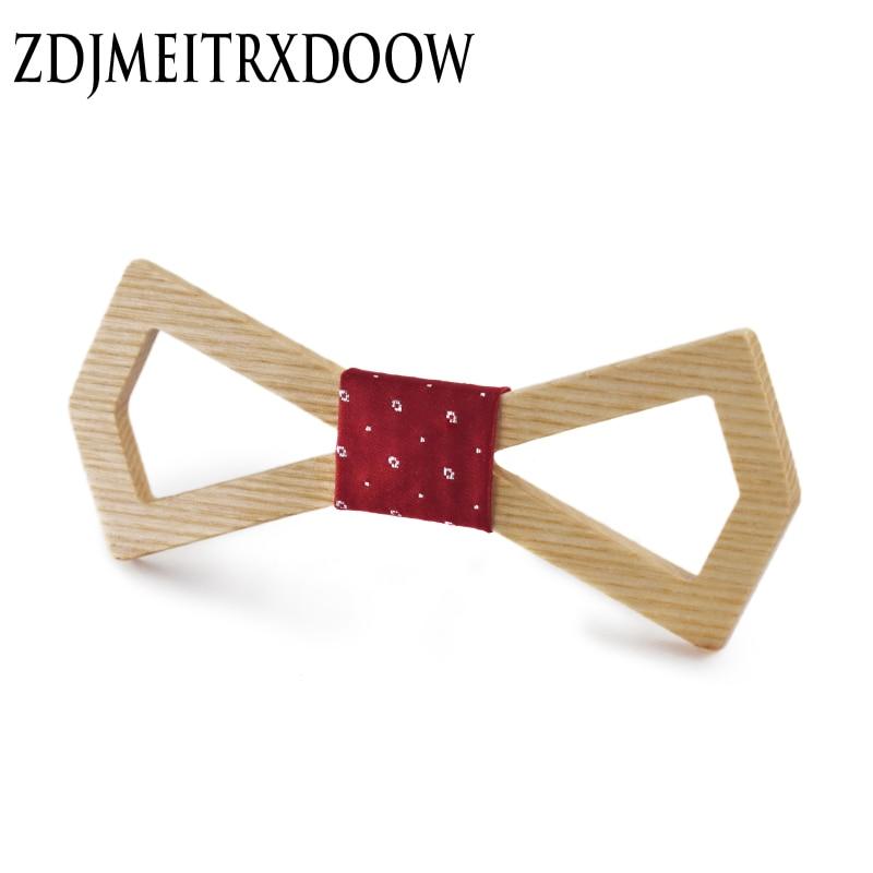 2016 Noeud Papillon Men Hardwood Bow Tie vīriešiem Classic Bowties Neckwear Creative roku darbs Butterfly Wood kaklasaites Gravata