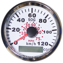 ФОТО 85mm 120kmh boat gps speedometer gauges universal speed mileometers for car motorcycle auto boat yacht rv 9-32v with backlight
