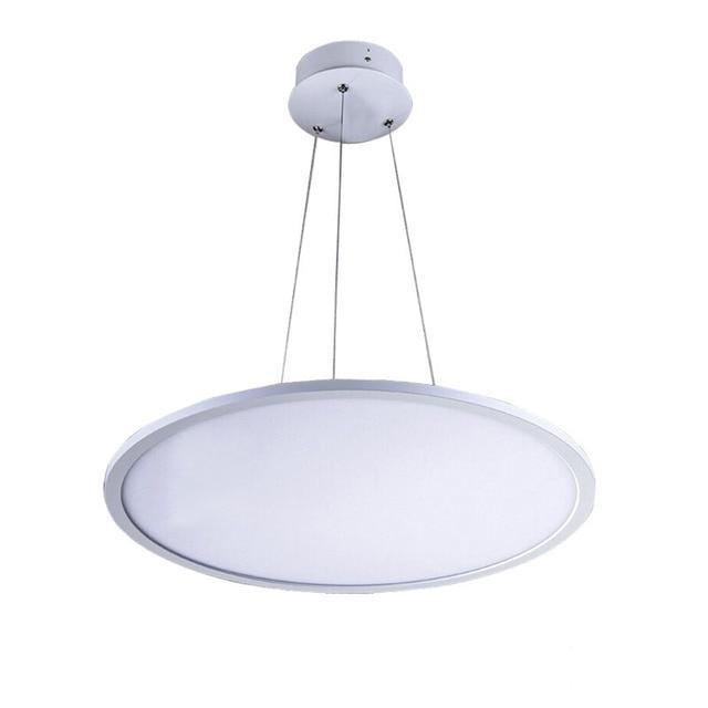 Modern Slim Black White Commercial Led Pendant Light For Living Room Dining Office Round Hanging