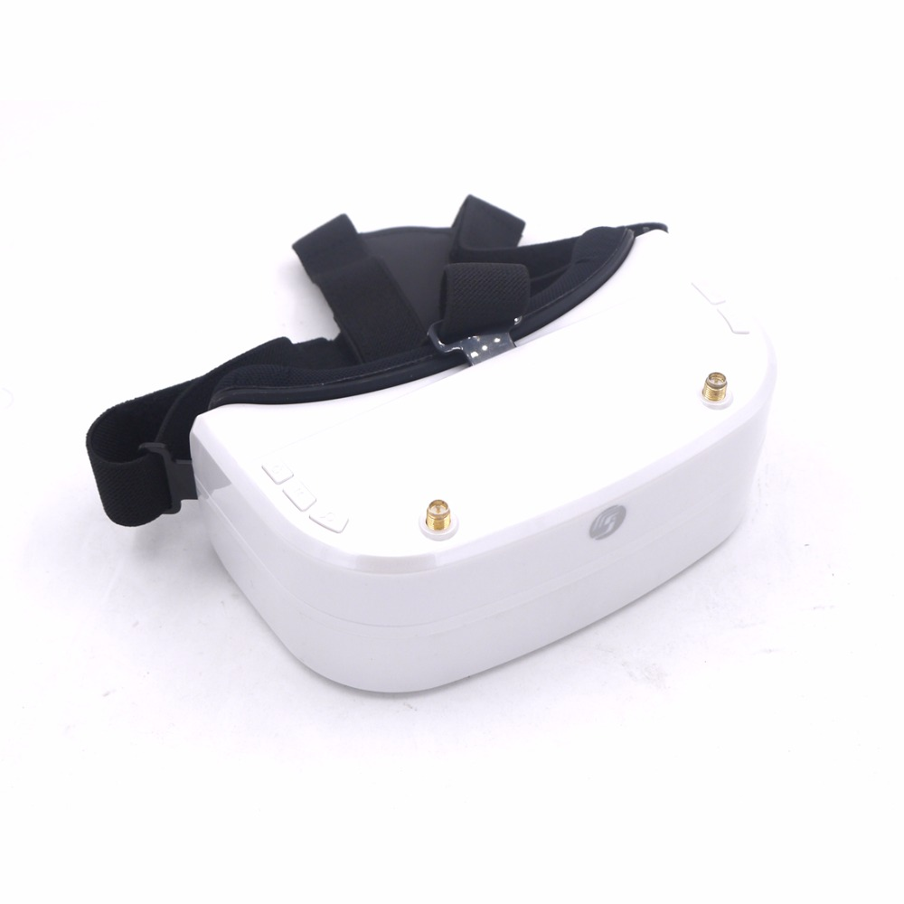SJ RG01 5.8G 48CH Dual-Displays Diversity FPV Video Goggles glasses w/ 3.7V 1500mAh Battery DVR skyzone sj rg01 5 8g 48ch fpv goggles dual display diversity dvr with 3 7v 1500mah battery vs eachine vr d2 pro 5 fatshark
