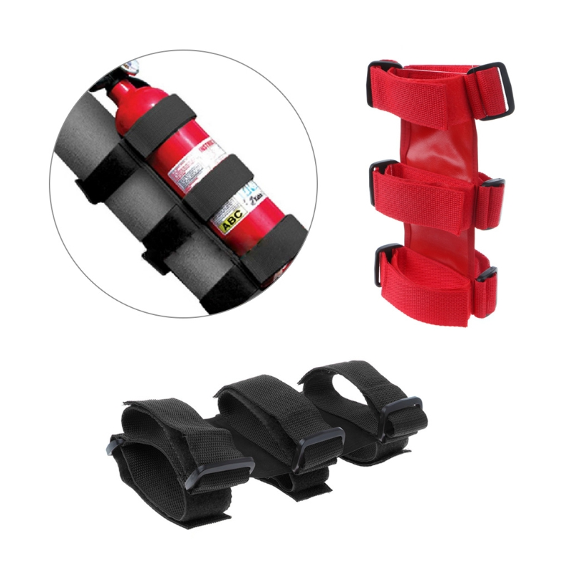 Nylon Bar Fire Extinguisher Holder Strap Safety Protection Kit For Jeep Wrangler