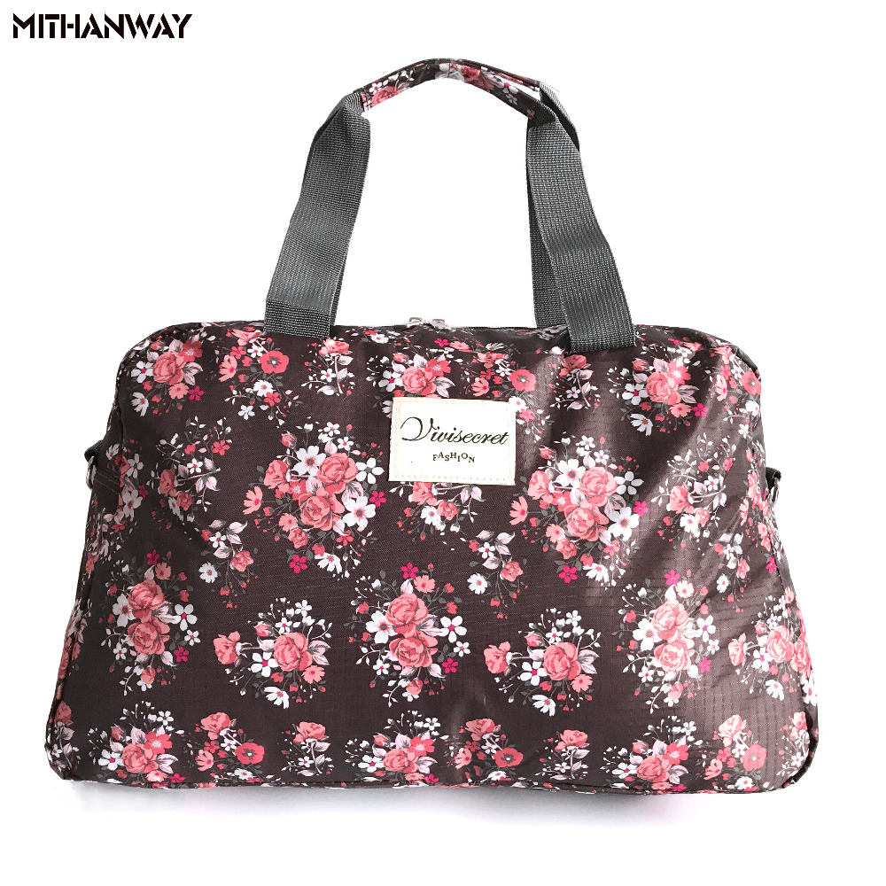 Women Lady Large Capacity Floral Duffel Totes Sport Bag Multifunction Portable Sports Travel ...