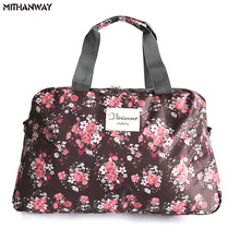 Kvinnor Lady Stor Kapacitet Floral Duffel Totes Väska Multifunktion Portable Sport Resor Bagage Gym Fitness Bag 5 Färger