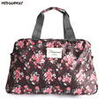 Women Lady Large Capacity Floral Duffel Totes Sport Bag Multifunction Portable Sports Travel Luggage Gym Fitness Bag 5 Colors