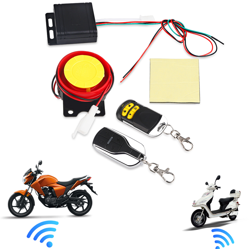 Remote Control Alarm Motorcycle Security System Motorcycle