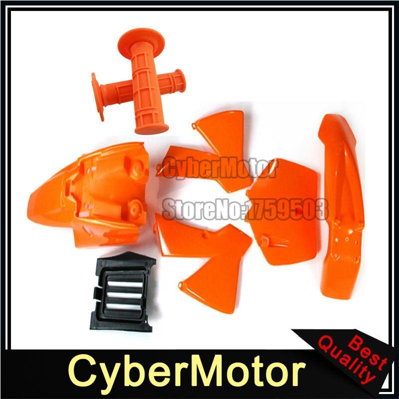 Orange Fairing Plastic Body Kits Throttle Grips For KTM50 SX SR JR KTM 50cc Senior Junior