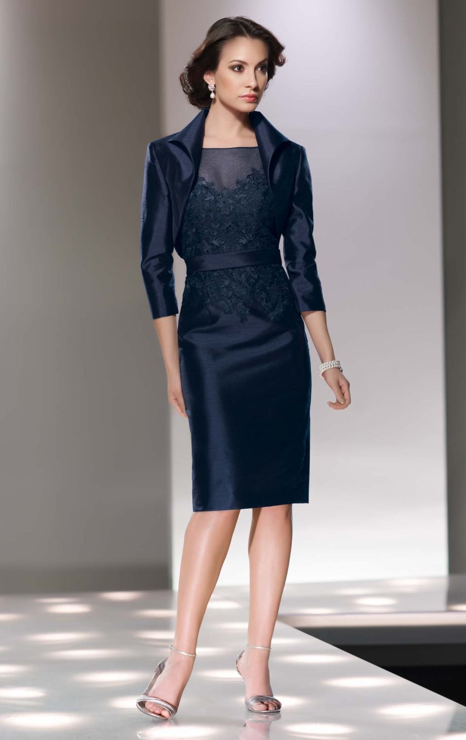 Popular Navy Blue Evening Dress with Jacket-Buy Cheap Navy Blue ...