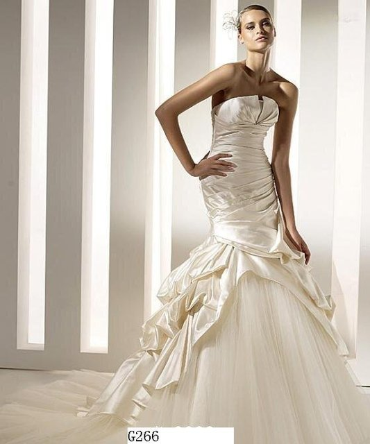 Free Shipping Wedding Dress,Bridal dress, Bridal Wedding dress, Wedding gown, G266