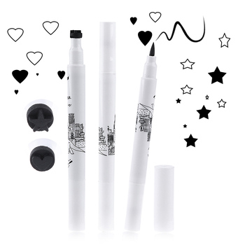 1 PCS NEWEST Black Eyeliner Waterproof Liquid Makeup Cosmetic Stamp Tattoo Pencil Pen Eye Liner Makeup Tools