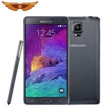 Note 4 разблокированный смартфон samsung Galaxy Note 4 N910A N910F N910P LTE 5,7 дюймов 16MP 3 ГБ 32 ГБ Восстановленный