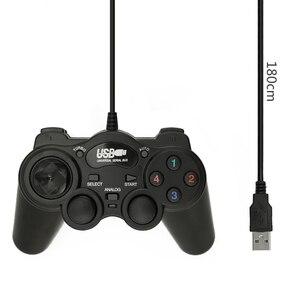 Image 5 - 2,0 USB проводной геймпад, Джойстики, USB геймпад, джойстик, ударопрочный игровой контроллер для ПК, ноутбука, компьютера, хороший подарок, джойстик